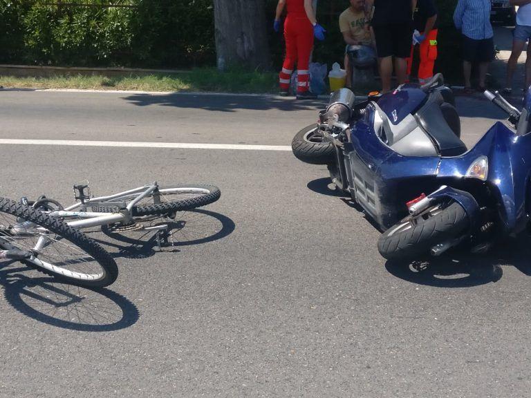 Tortoreto, ciclista investito sulla Statale soccorso dall'elicottero FOTO VIDEO