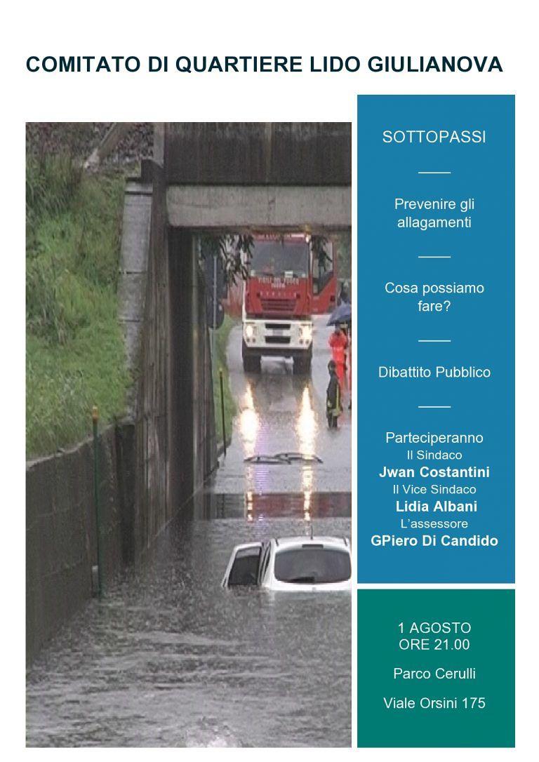 Giulianova, come prevenire gli allagamenti: assemblea del Quartiere Lido