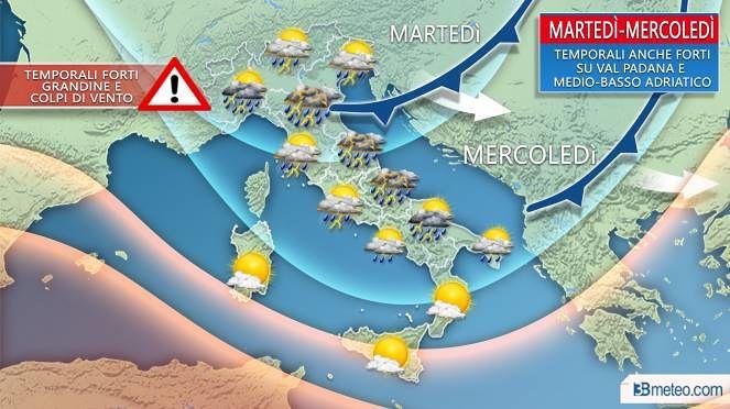 Domenica di sole, ma nei prossimi giorni sono attesi forti temporali