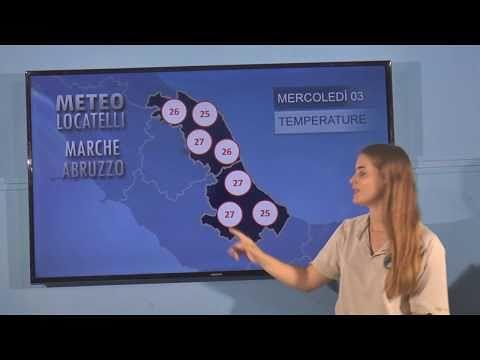 Previsioni del tempo di mercoledì 3 luglio VIDEO