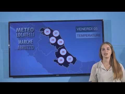 Previsioni del tempo di venerdì 5 luglio VIDEO