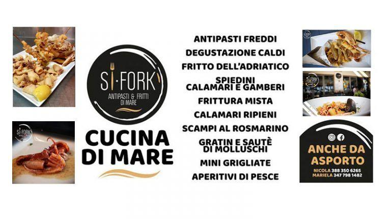 SI FORK Ristorante ed Aperitivi di pesce ad Alba Adriatica (TE) Aperto dal Martedì alla Domenica per Pranzo Aperitivi e Cena