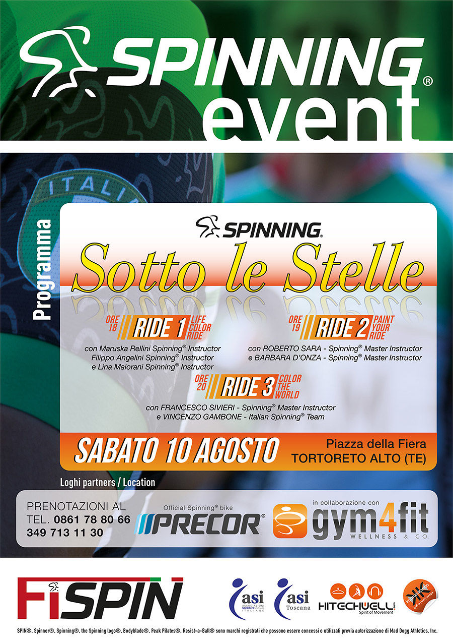 spinning sotto le stelle tortoreto