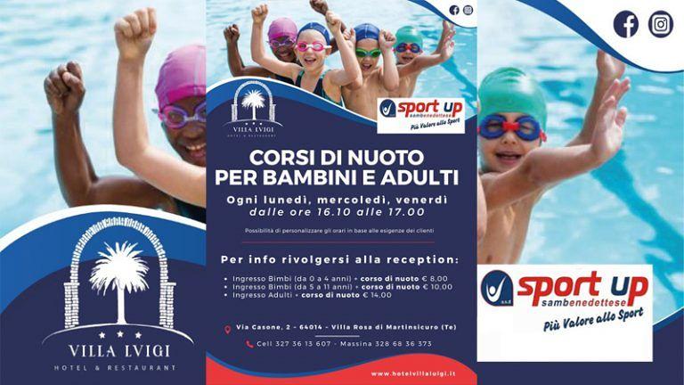 HOTEL Ristorante VILLA LUIGI Corsi di Nuoto per Bambini e Adulti a Villa Rosa di Martinsicuro (TE)