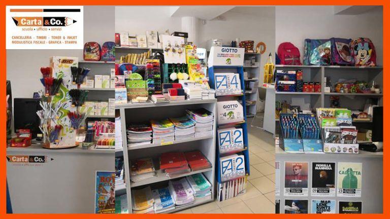 CARTOLERIA CARTA & CO Via Adriatica, 74 Alba Adriatica (TE)Cancelleria Gadgets Personalizzati Stamperia e Tutto pronto per la scuola!