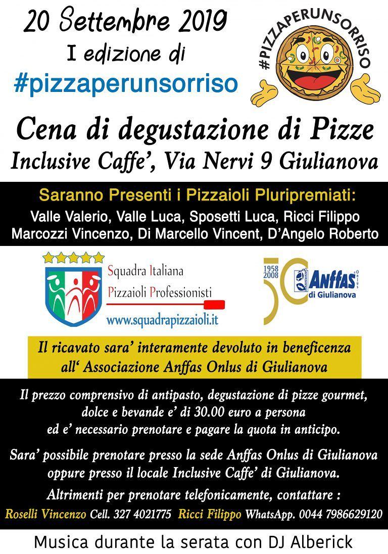 Giulianova, #pizzaperunsorriso: la serata di beneficenza dei Pizzaioli Professionisti per l'Anffas