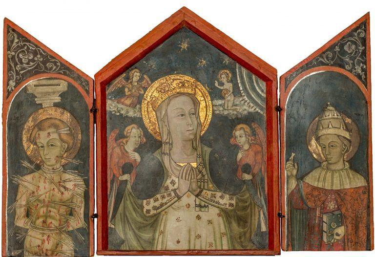 Alanno, in anteprima la copia del Trittico 'Madonna con Santi'