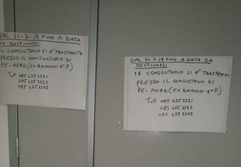 Montesilvano, problemi al pavimento: il consultorio via dal distretto sanitario