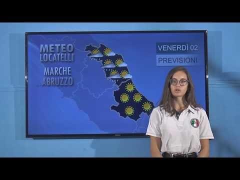 Previsioni del tempo venerdì 2 agosto VIDEO