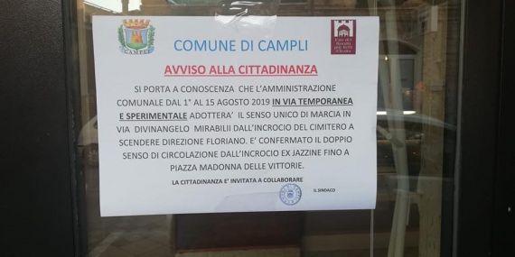 Nuovo senso unico a Sant'Onofrio, vertice della minoranza (Ricostruiamo Campli) con i commercianti