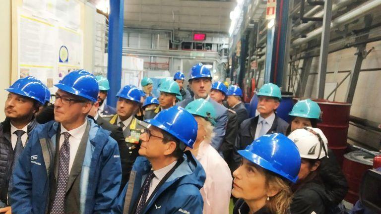 Il Ministro Tria in visita ai Laboratori del Gran Sasso FOTO VIDEO