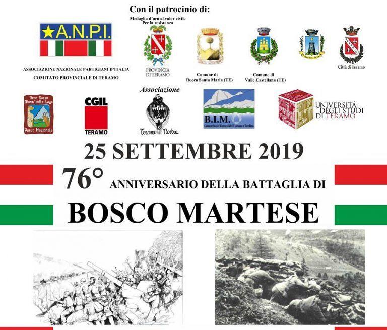 Battaglia di Bosco Martese, l'ANPI Teramo celebra il 76° anniversario