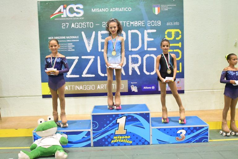 Risultati brillanti per il pattinaggio di Bellante: la campionessa nazionale ha solo 8 anni