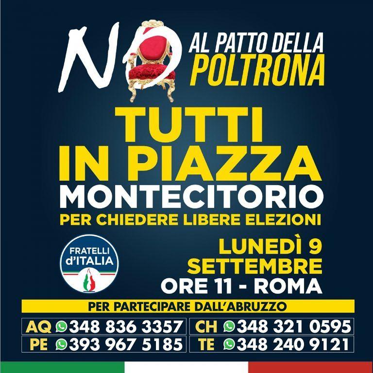 Fratelli d'Italia, dall'Abruzzo in tanti alla manifestazione di Roma