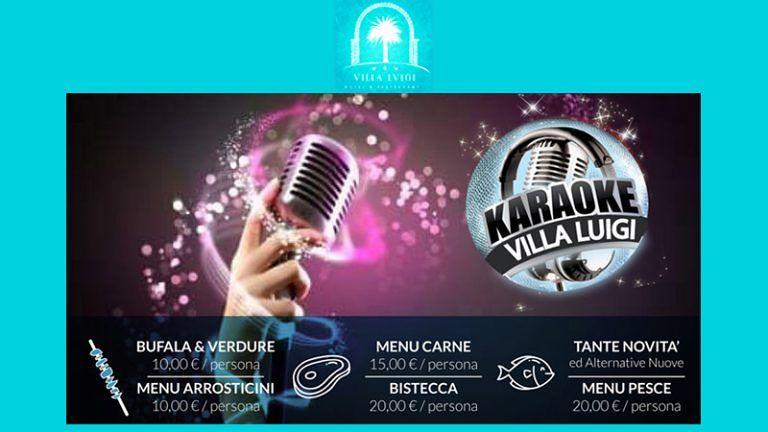 CENA CON KARAOKE! VENERDI' 27 SETTEMBRE A VILLA LUIGI Grande serata all'aperto A Villa Rosa di Martinsicuro (TE)