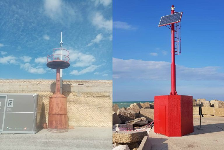 Giulianova, installazione sulla rotonda dell'Annunziata per celebrare il mare e la sua tradizione