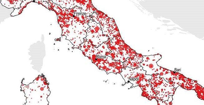 Consumo di suolo in Abruzzo: il rapporto dell'Ispra. I dati comune per comune SCARICA