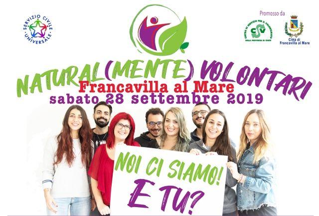 """Francavilla, """"Naturalmente Volontari"""": giornata di promozione del Servizio Civile"""