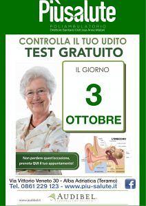 POLIAMBULATORIPO Piùsaluite Giovedì 3 Ottobre TEST GRATUITO PER L'UDITO Alba Adriatica (TE)