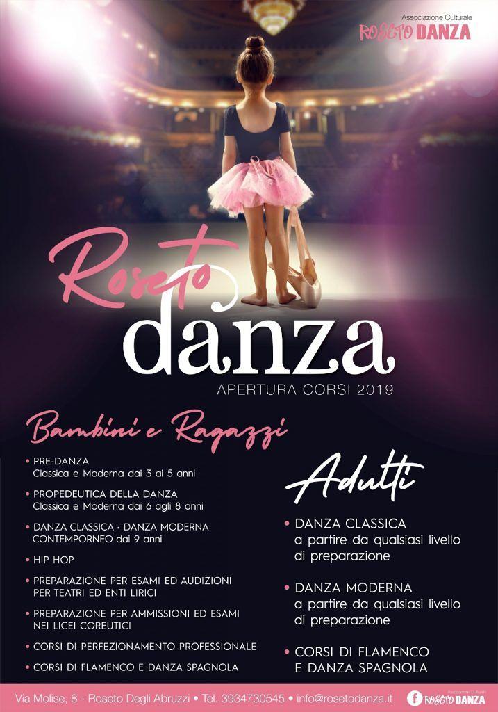Ass. Culturale ROSETO DANZA Sono aperte le ISCRIZIONI AI CORSI DI DANZA per Bambini/e Ragazzi/e ANCHE PER ADULTI con Classico Moderno Flamenco e danza Spagnola