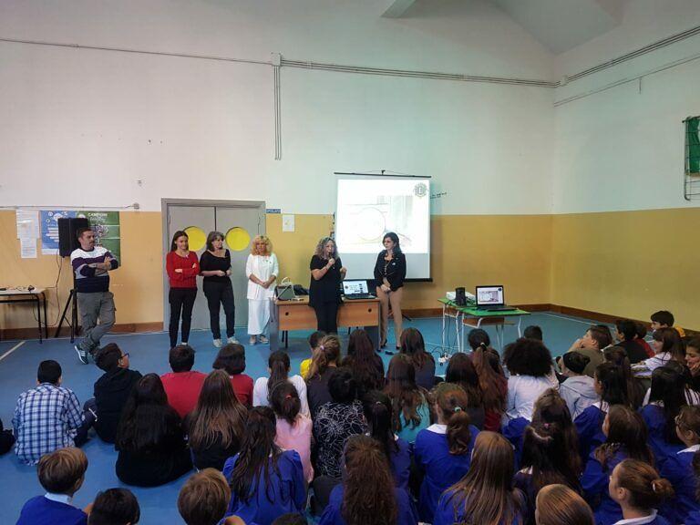 Giulianova, Giornata Internazionale del Bastone Bianco alla scuola De Amicis con il Lions Club FOTO