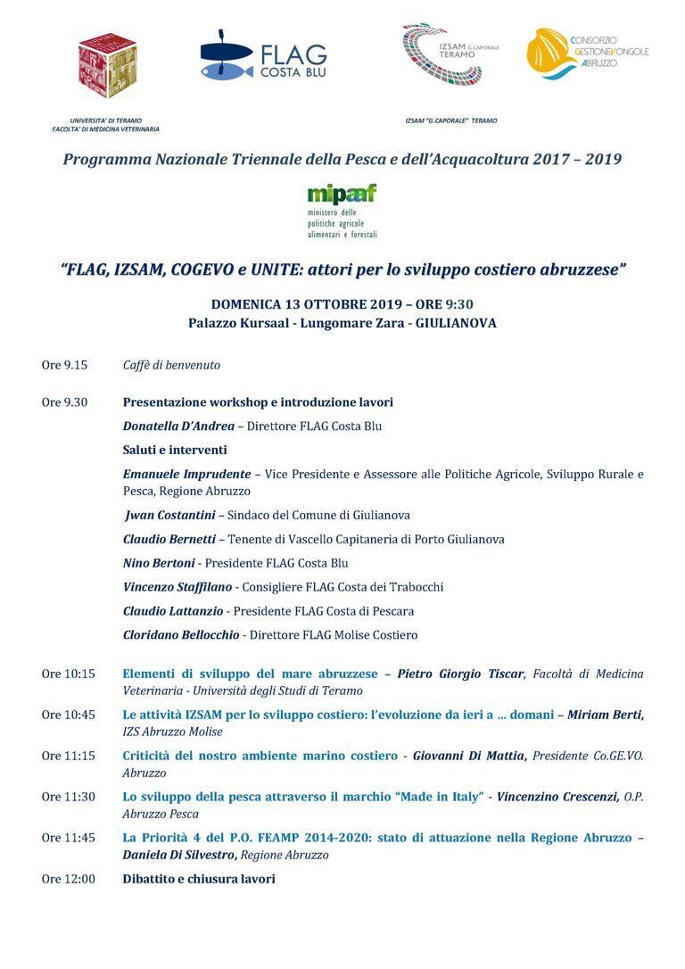 Giulianova, workshop sullo sviluppo costiero abruzzese e le zone di pesca
