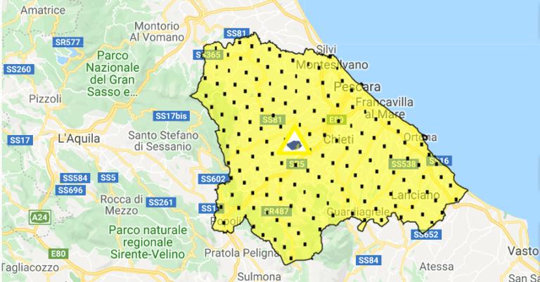 Allerta meteo in Abruzzo per il 31 ottobre: possibili temporali