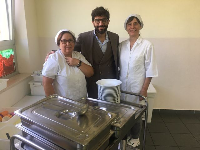 San Giovanni Teatino, servizio mensa: ispezione del sindaco Marinucci e dell'amministratore Borrelli