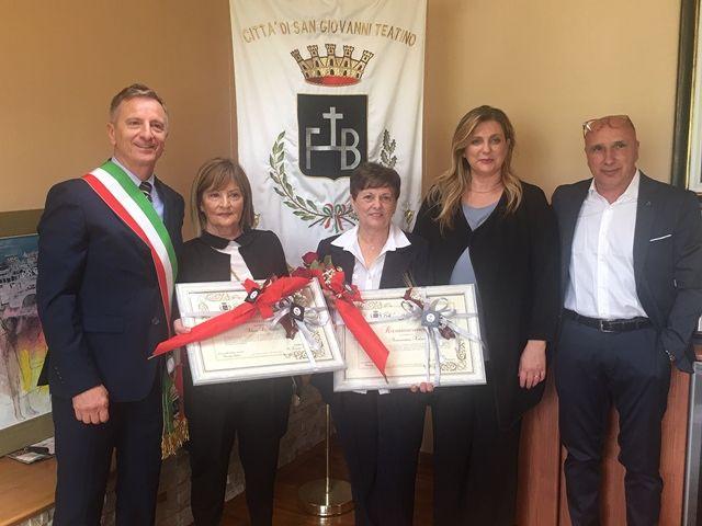 San Giovanni Teatino, maestre in pensione: il ringraziamento dell'Amministrazione Marinucci