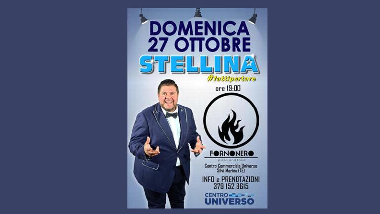 Domenica 27 Ottobre AL FORNONERO cc UNIVERSO di Silvi Marina (TE) STELLINA #fattiportare