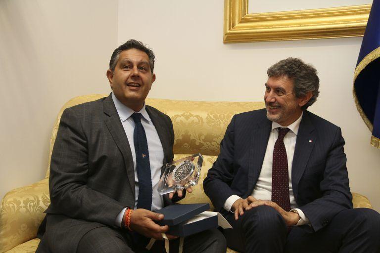 L'Aquila, il presidente Marsilio incontra il collega Toti FOTO