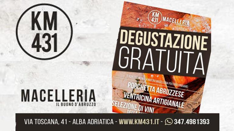 Sabato 26 ottobre AL KM 431 MACELLERIA di Alba Adriatica (TE) DEGUSTAZIONE GRATUITA di Vini con Porchetta e Ventricina