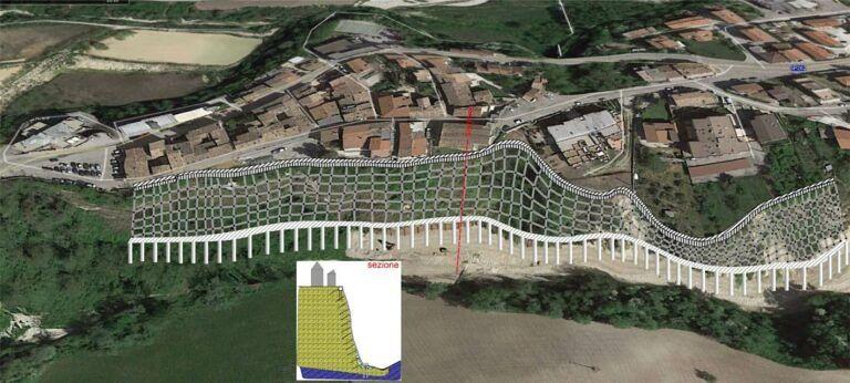 Campli, frana di Castelnuovo: pubblicato il bando per la progettazione del piano di consolidamento