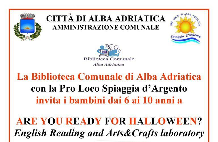 Alba Adriatica, 'Are you ready for Halloween?': lettura animata a Villa Flaiani