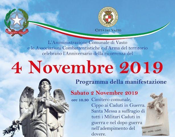 Vasto, eventi in programma per il mese di novembre