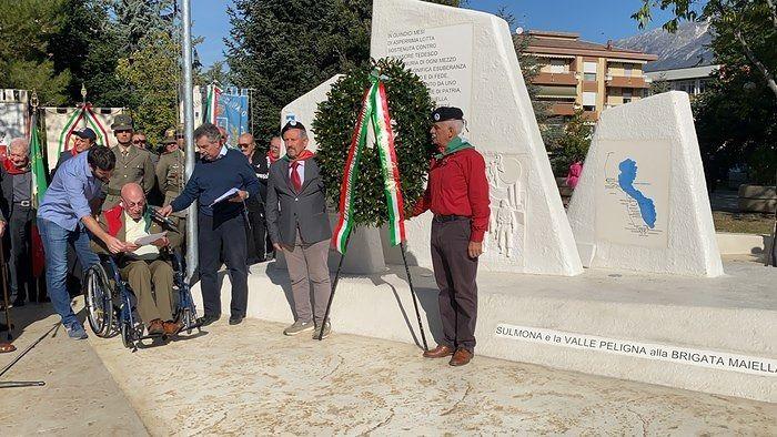 Sulmona, inaugurato il monumento alla Brigata Maiella