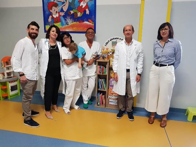 Una piccola biblioteca in dono ai bambini della Pediatria di Lanciano