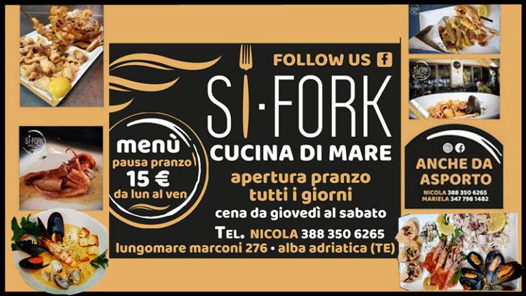 SI FORK ad Alba Adriatica, ti aspetta tutti i giorni per deliziare un ottimo pesce fresco e buon vino