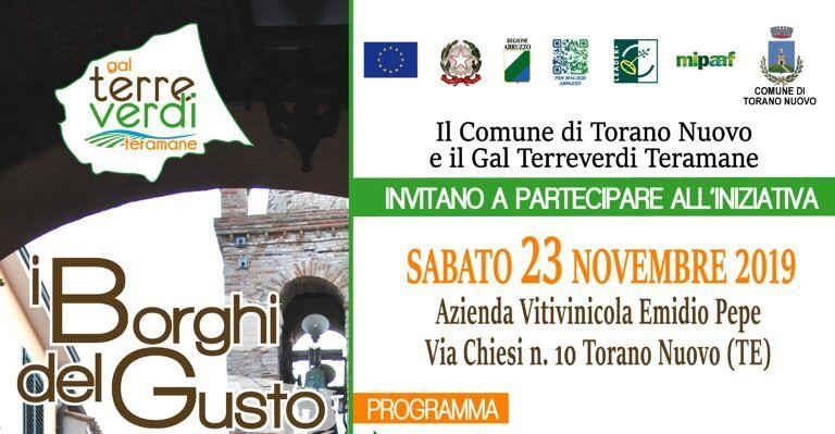 """Torano Nuovo, """"i borghi del gusto"""": iniziativa del Gal Terreverdi Teramane"""