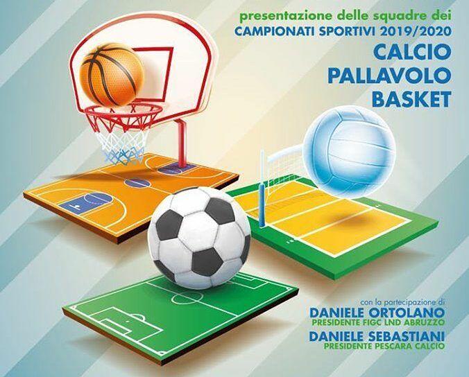 Pineto: le squadre di calcio, volley e basket si presentano