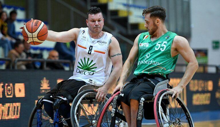 Basket in carrozzina, Amicacci sconfitta dai Campioni d'Italia Santo Stefano