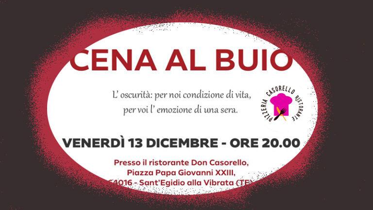 VENERDÌ' 13 DICEMBRE– UNA CENA DAL GUSTO DAVVERO SPECIALE da CASORELLO Ristorante Pizzeria – S.Egidio alla V.ta (TE)