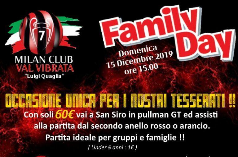 Family Day, il Milan Club Val Vibrata ripropone l'iniziativa