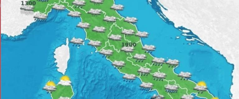 Meteo in Abruzzo: domenica con temporali, vento e mareggiate