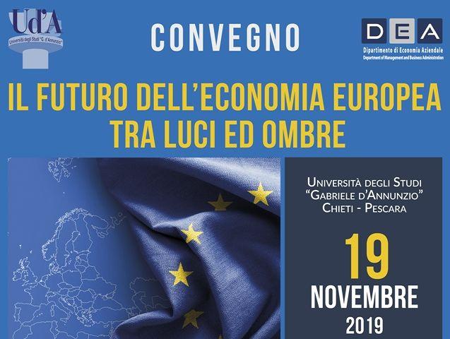 Chieti, 'Il futuro dell'economia europea tra luci ed ombre': convegno all'Università