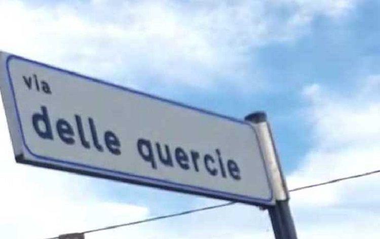 Civitella del Tronto, il cartello con l'errore ortografico a Villa Lempa