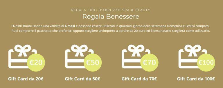 Regala Lido d'Abruzzo Spa & Beauty, le nuove Gift Card ti aspettano!