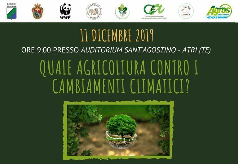 Agricoltura e cambiamenti climatici: convegno della Riserva dei Calanchi all'Auditorium di Atri