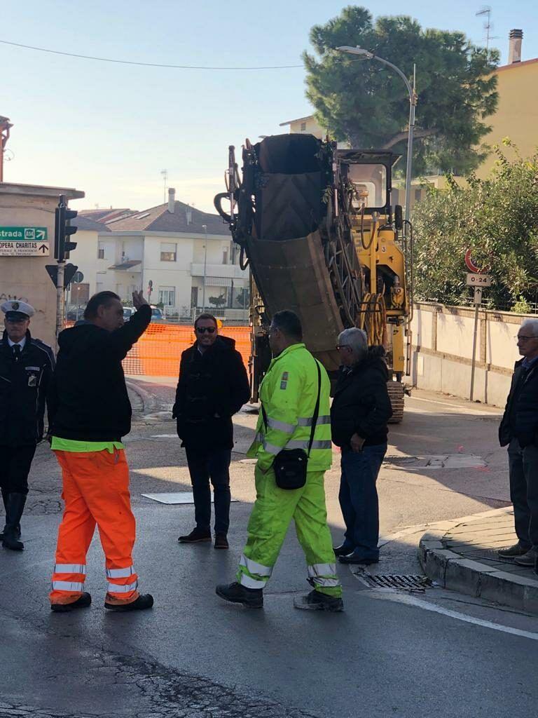 Giulianova, partiti oggi i lavori di manutenzione straordinaria all'incrocio di via Migliori