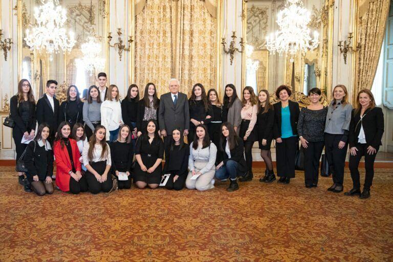Teramo, gli studenti del Classico dal Presidente della Repubblica FOTO